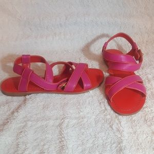 NWT Coach Red & Pink Strappy Sandals